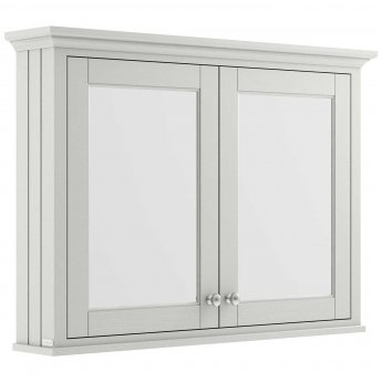 Hudson Reed Old London Mirrored Bathroom Cabinet 1050mm Wide - Timeless Sand