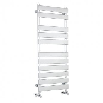 Heatwave Flat Panel Heated Towel Rail 1200mm H x 500mm W - Chrome