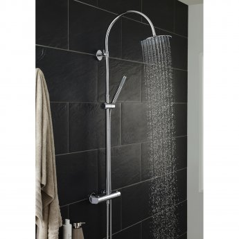 Hudson Reed Porto Bar Mixer Shower with Shower Kit + Fixed Head