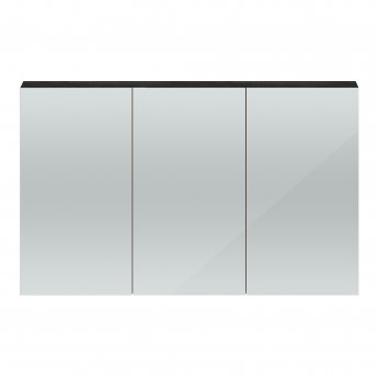 Hudson Reed Quartet 3 Door Mirrored Cabinet 1350mm Wide - Hacienda Black