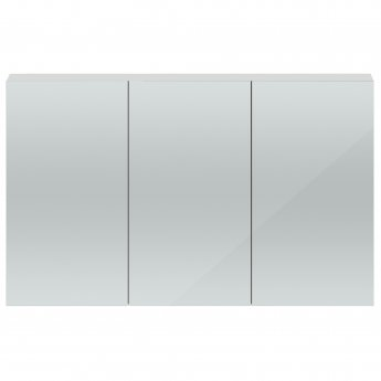 Hudson Reed Quartet Bathroom Mirrored Cabinet 715mm High x 1350mm Wide - Gloss Grey Mist