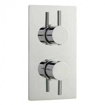 Hudson Reed Quest Series FII Concealed Shower Valve Dual Handle - Chrome