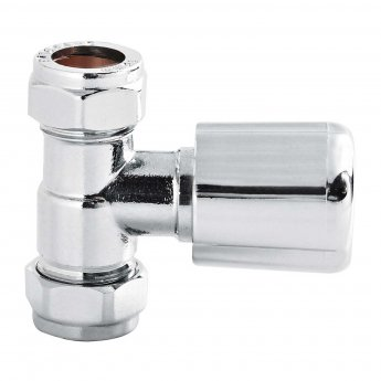 Hudson Reed Straight Radiator Valves Pair - Chrome