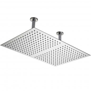 Hudson Reed Rectangular Ceiling Mounted Shower Head And Ceiling Arm, 600mm x 400mm, Chrome