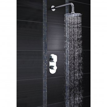 Hudson Reed Reign Round Concealed Shower Mixer with Fixed Head - Chrome