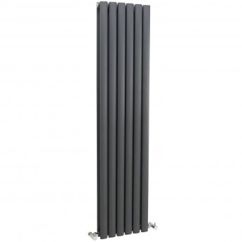 Hudson Reed Revive Double Designer Vertical Radiator 1500mm H x 354mm W Anthracite