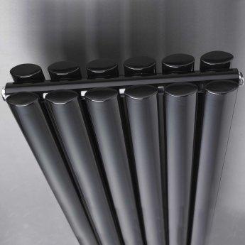 Hudson Reed Revive Double Designer Vertical Radiator 1800mm H x 354mm W Gloss Black