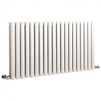 Hudson Reed Revive Large Double Designer Horizontal Radiator 633mm H x 1180mm W White