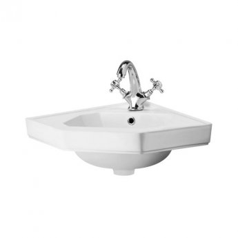 Hudson Reed Richmond Corner Cloakroom Basin 600mm Wide - 1 Tap Hole
