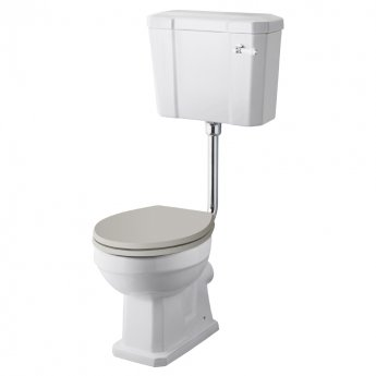 Hudson Reed Richmond Comfort Low Level Close Coupled Toilet with Cistern - Excluding Seat