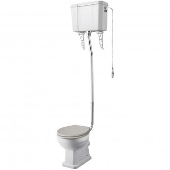 Hudson Reed Richmond Comfort High Level Toilet with Cistern - Excluding Seat
