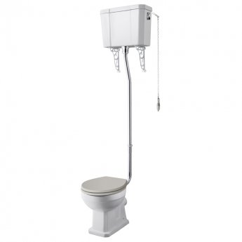 Hudson Reed Richmond Comfort High Level Close Coupled Toilet with Cistern - Excluding Seat