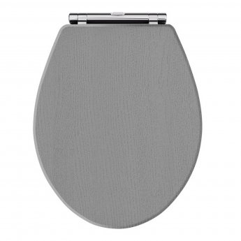 Hudson Reed Richmond Soft Close Toilet Seat Chrome Hinges - Storm Grey