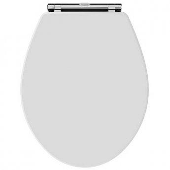 Hudson Reed Richmond Soft Close Toilet Seat Chrome Hinges - White