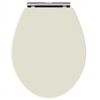 Hudson Reed Richmond Soft Close Toilet Seat Ivory Chrome Hinges