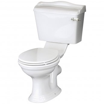 Hudson Reed Ryther Close Coupled Toilet WC Lever Cistern - Excluding Seat