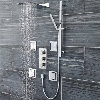Hudson Reed Sheer Slider Shower Rail Kit, Pencil Handset, Chrome