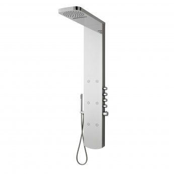 Hudson Reed Shimmer Thermostatic Shower Tower Panel 6 Inset Body Jets - Chrome