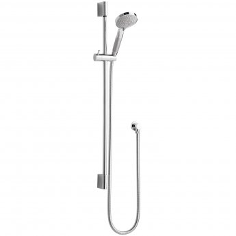 Nuie Vertical Thermostatic Bar Shower Valve, Slider Shower Kit, Chrome