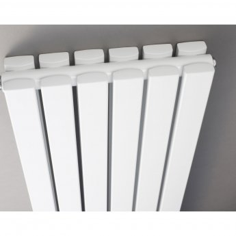 Hudson Reed Sloane Double Designer Vertical Radiator Mirror 1800mm H x 381mm W White