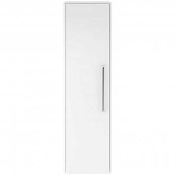 Hudson Reed Solar Wall Hung Tall Storage Unit 350mm Wide - Pure White