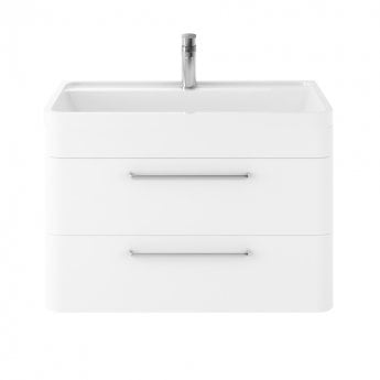 Hudson Reed Solar Wall Hung Vanity Unit with Basin 800mm Wide - Pure White