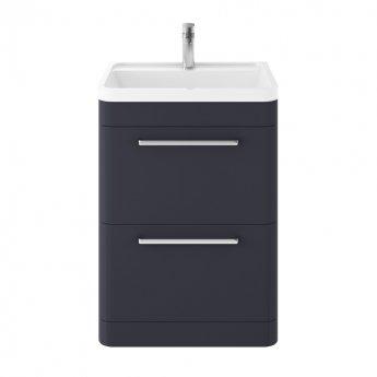Hudson Reed Solar Floor Standing Vanity Unit with Basin 600mm Wide - Indigo Blue