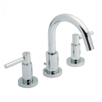 Hudson Reed Tec Lever 3-Hole Basin Mixer Tap with Pop-Up Waste - Chrome