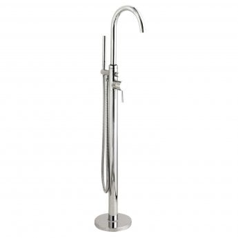 Hudson Reed Tec Single Lever Elite Mono Bath Shower Mixer Tap Floor Mounted - Chrome