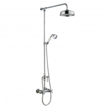 Hudson Reed Thermostatic Bar Mixer Shower Kit with Handset and Fixed Head