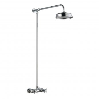 Hudson Reed Thermostatic Bar Mixer Shower Kit and Fixed Head
