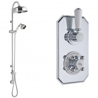 Hudson Reed Topaz Dual Concealed Mixer Shower with Shower Kit + Fixed Head