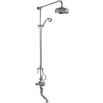 Hudson Reed Topaz Triple Exposed Mixer Shower with Shower Kit + Fixed Head + Tap Spout