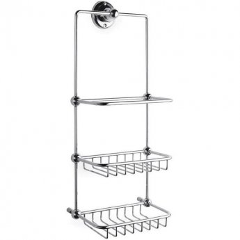Hudson Reed Traditional Shower Tidy, 3 Tier, Chrome