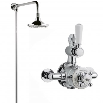 Hudson Reed Topaz Dual Exposed Mixer Shower with Fixed Head