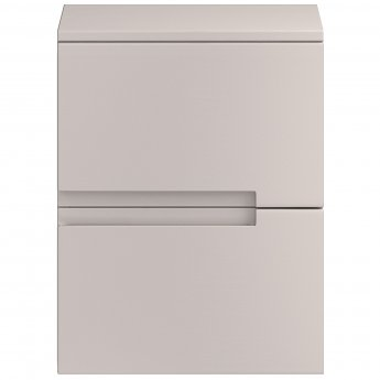 Hudson Reed Urban Small Side Cabinet, 400mm Wide, Gloss Cashmere