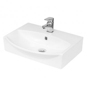 Hudson Reed Vessel Sit-On Countertop Basin 500mm Wide - 1 Tap Hole