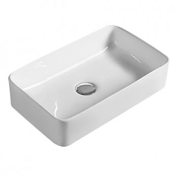 Hudson Reed Vessel Sit-On Countertop Basin 460mm Wide - 0 Tap Hole