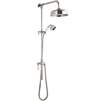 Hudson Reed Traditional Exposed Shower Valve with Rigid Riser Kit - Chrome