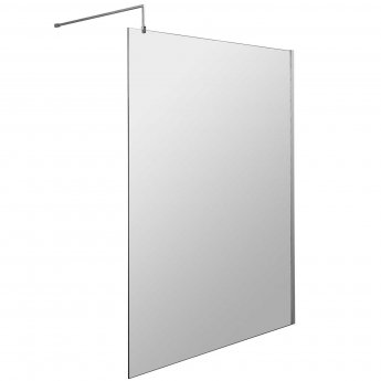 Hudson Reed Wet Room Screen with Support Bar 1400mm Wide - 8mm Glass