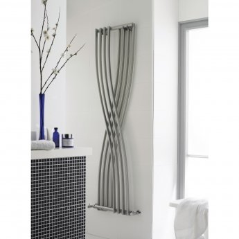 Hudson Reed Xcite Designer Vertical Radiator 1775mm H x 450mm W Gloss Silver