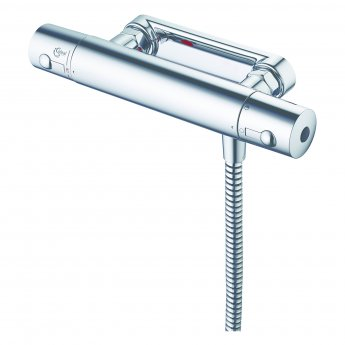Ideal Standard Alto Ecotherm Thermostatic Bar Mixer Shower with Three Function Shower Kit - Chrome
