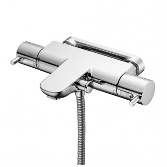 Ideal Standard Alto Ecotherm Wall Mounted Shower Bar Valve Metal Lever Handles Chrome