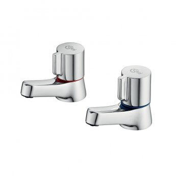 Ideal Standard Alto Basin Pillar Taps Pair Chrome