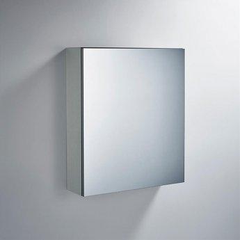 Ideal Standard 1-Door Mirror Cabinet 600mm Wide - Aluminium