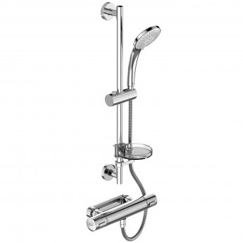 Ideal Standard Ceratherm 100 Thermostatic Bar Mixer Valve with Shower Kit - Chrome