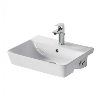 Ideal Standard Concept Air Cube Semi - Countertop Basin 500mm Wide 1 Tap Hole