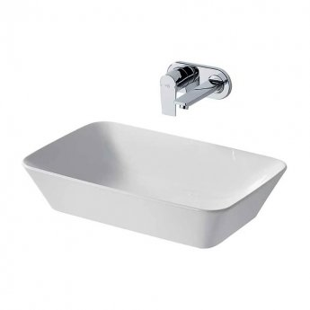 Ideal Standard Concept Air Cube Vessel Basin 600mm Wide 0 Tap Hole