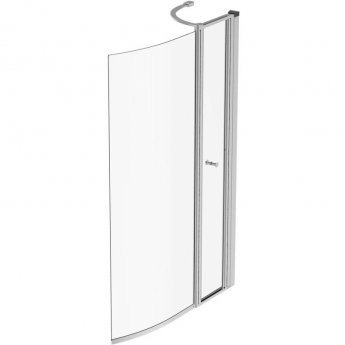 Ideal Standard Concept Air Shower Bath Screen With Access Panel 1414mm X 900mm - Bright Silver