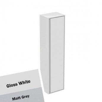 Ideal Standard Concept Air 1 Door Tall Column Unit 400mm Wide - Gloss White / Matt Grey